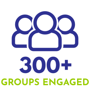 300 + groups engaged